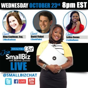 October 2019 #SmallBizChat: How To Succeed In Business, Scaling your Business and Covering Yourself Legally, and Marketing Domination Strategies.