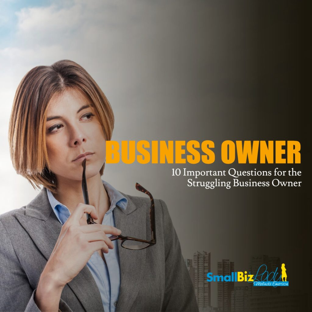 10 Important Questions for the Struggling Business Owner SOCIAL IMAGE