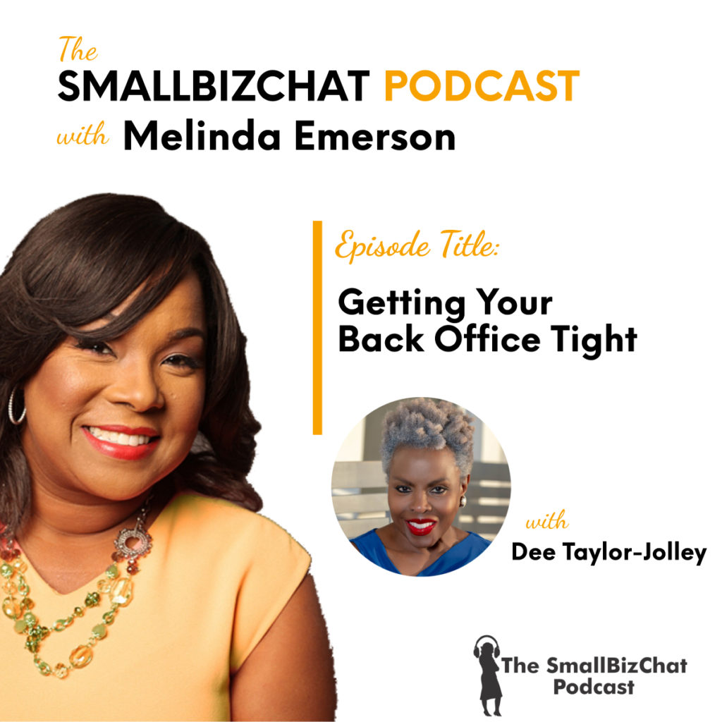 Getting Your Back Office Tight with Dee Taylor-Jolley 1200 x 1200