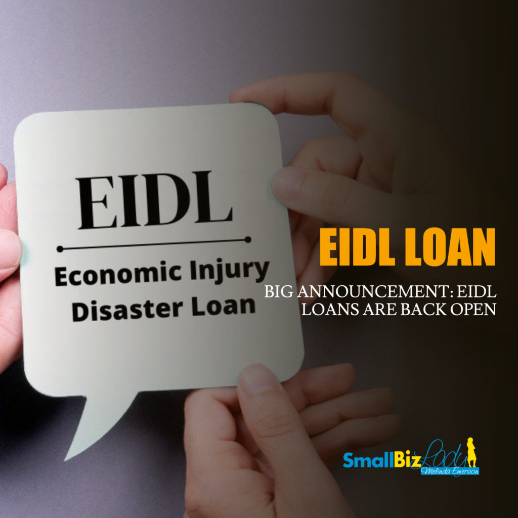 BIG ANNOUNCEMENT_ EIDL LOANS ARE BACK OPEN social image